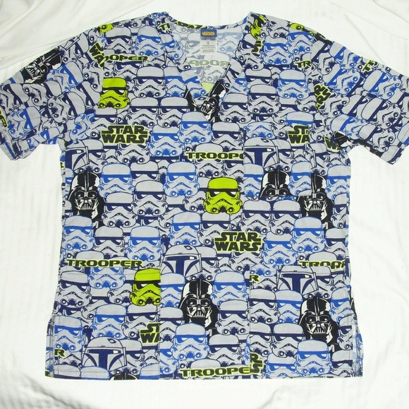 ab74424b78b RESERVED for rachmariner Scrub Top Size S EUC. M_5b9d9eb03e0caa4d66ee5a42.  Other Tops you may like. Star Wars ...